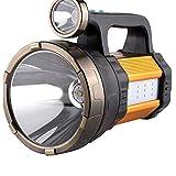WRlight Taschenlampe LED-Scheinwerfer wiederaufladbare tragbare Handscheinwerfer Camping Lichter Mobile Power High Power Superhelle 950W Blitzlicht Blendung 5000 Superhelle Xenon-Licht-Fernbedienung