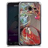 Slim Case Silikon Hülle Ultra Dünn Schutzhülle kompatibel mit Samsung Galaxy J3 Duos 2016 Chinesisch Dragon Drache