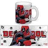 Sémic-SMUG103-Taza con imagen de Deadpool-Héro Marvel, diseño de katana-Rama, color blanco
