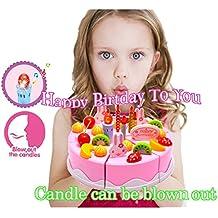 """Cumpleaños Canto Cake Toy - BigNoseDeer Jugar Party Cake con música Canta """"Feliz Cumpleaños a usted"""" Vela puede ser soplar"""