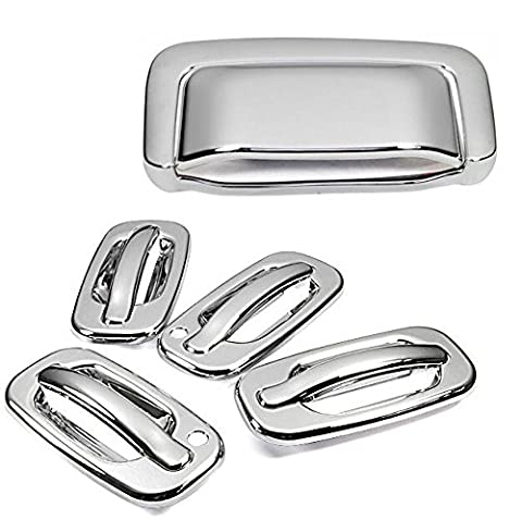 New Chrome Side Door + Rear Trunk Tailgate Handle Cover Set
