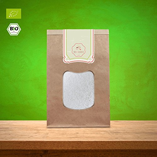 süssundclever.de® Bio Kokosraspeln | 1 kg | Rohkostqualität | ungezuckert und 100% naturbelassen | plastikfrei und ökologisch-nachhaltig abgepackt | geraspelte Kokosnüsse