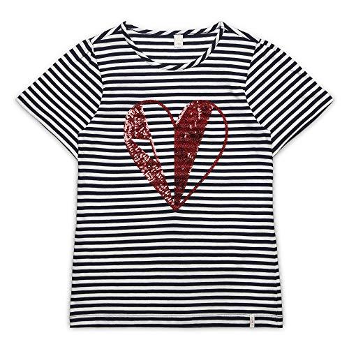 ESPRIT KIDS Mädchen Short Sleeve Tee-Shirt T-Shirt, per Pack Weiß (Off White 110), 128 (Herstellergröße: XS) -