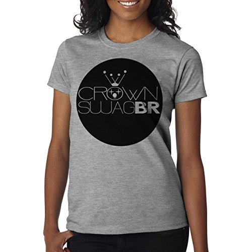 SWAG Crown Swag Br Sign Badge Damen T-Shirt Grau