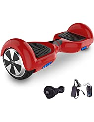Cool&Fun Hoverboard 6,5 pouces Smart Scooter Skateboard Électrique Gyropode 2x350W (Rouge) …