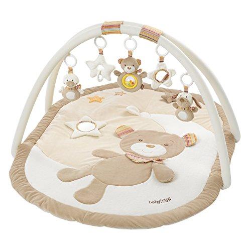 Fehn 160888 3-D-Activity-Decke Rainbow / Spielbogen mit 5 abnehmbaren Spielzeugen für Babys Spiel & Spaß von Geburt an / Maße: 80x105 cm