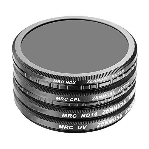 Goyajun UV Filter+ND16 Filter+CPL Filter+ND2-400 Filter für DJI Inspire Zenmuse X5/X5R/X7-4 Stück Hohe Auflösung Multi-beschichtete Optisches Glas Kamera Objektiv Filter