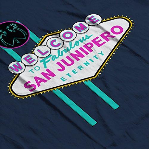 Cloud City 7 Black Mirror Welcome to San Junipero Sign Women's Vest Navy blue
