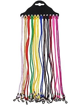 Soleebee 12 pezzi universali Corda per occhialiRegolabile moda multicolor Cordino per occhiali / Corda per occhiali...