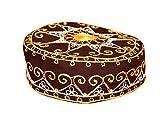 Traditionelle Arabische Kopfbedeckung - Araber - Karnevalskostüm/Farbe: braun