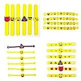 JZK 28 x Emoji Gummi Armbänder Party Spielzeu...Vergleich