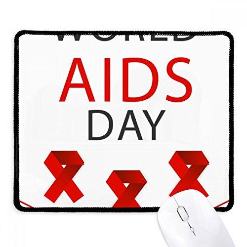 DIYthinker AIDS-Tag Red Ribbon HIV-Bewusstsein Non-Slip Mousepad Spiel Büro Schwarz Titched Kanten Geschenk