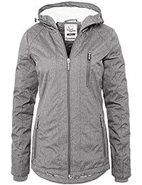 SUBLEVEL Damen Winterjacke   Warme Sportliche Jacke mit Kapuze in Blau & Grau