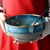 LXLX Kreative ofen Nudeln schüssel obstsalatschüssel Retro Amerikanischen suppenschüssel instant nudelschüssel Haushalt Keramik Geschirr rührschüssel (größe : Large)