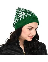 3397e4738f9 VR Designers Pom-Pom Handknitted Woolen Beanie Cap   Christmas Cap Hat
