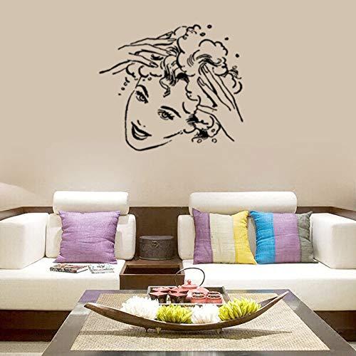 JXMQ Persönlichkeit kreative Charakter Shampoo Schönheit Schlafzimmer Wohnzimmer Dekoration Hintergrund Wandaufkleber 57x50cm -