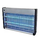 Powerpreise24 Lichtfalle 2500 Volt 2 x 15 Watt für 150 m² Elektrischer Insektenvernichter Insektenfalle mit UV-Licht zuverlässige Insektenabwehr Mückenfalle