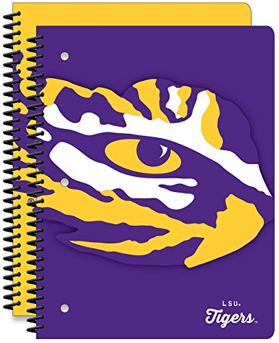 Louisiana State University Tigers 1-subject Schule Notebooks, 2Pack, 70Seiten, 20,3x 26,7cm