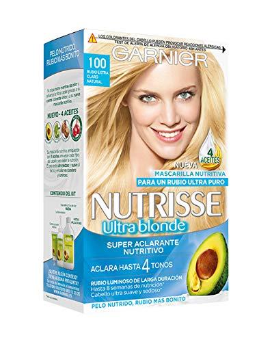 Garnier Nutrisse Creme coloración permanente con mascarilla nutritiva de cuatro aceites - Rubio Extra...