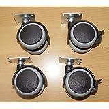 DELEX-Rollen - Ruedas para muebles (caucho, 4 unidades, M8 x 50 mm)