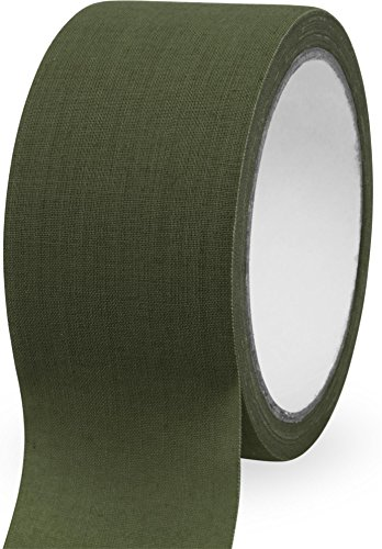 normani Textilklebeband Tarnband aus reißfestem Gewebe, 10 m Farbe Oliv