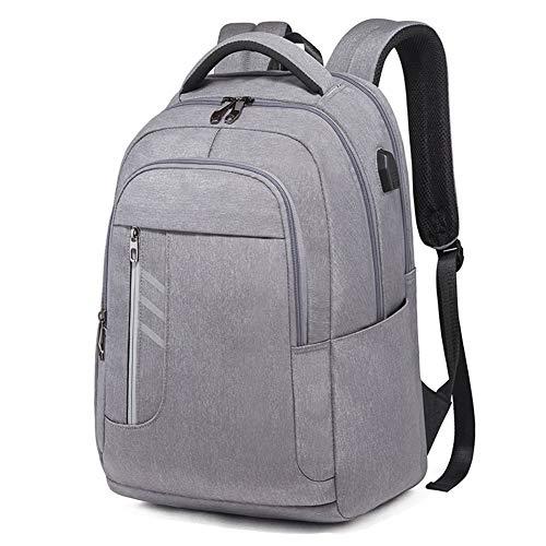 Preisvergleich Produktbild JL Laptop Notebook Männer Rucksack,  Geschäftsreisen mit Kopfhöreranschluss und USB-Aufladung Kennwortsperre Diebstahlsicherung Große Collegetasche für Männer und Frauen, LightGray