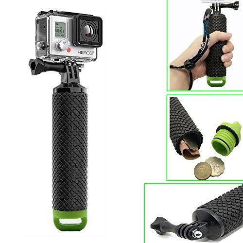 Homeet GoPro Impugnatura Galleggiante Mano Impermeabile Floating Grip Selfie Palo Galleggianti per GoPro Hero 5/4/3+/3/2/SESSION, per Action Camera Canon/Nikon/Panasonic/Olympus/SJCAM/SONY HDR FDR/Garmin Virb XE/Xiaomi Yi 4K/DBPOWER QUMOX/Akaso/Apeman【Verde】