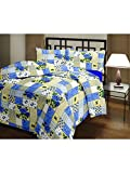 eCraftIndia Blue Floral Single Bed Rever...