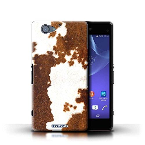 Kobalt® Imprimé Etui / Coque pour Sony Xperia A2 / Girafe conception / Série Motif Fourrure Animale Vache/Brown