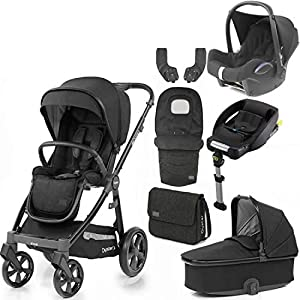 Babystyle Oyster 3 Noir with Carrycot Bag footmuff Maxi COSI car seat & isofix Base   13
