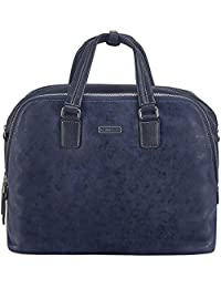 Rohit Bal Leather Navy Laptop Bag (9933)