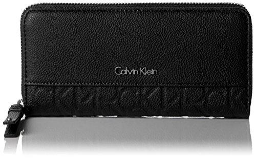 Calvin Klein MISH4 Large Ziparound, Sacchetto Donna, Nero (Black), 14x3x22 cm (b x h x t)