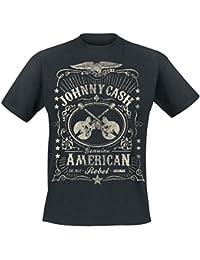 Johnny Cash American Rebel T-Shirt black