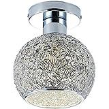 DAXGD lámpara de aluminio de techo Mini plafón para el vestidor, el corredor y el salón, Diamètre du plafonnier: 18cm