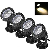 Bloomwin 4PCS Projecteur Led Jardin Exterieur 5W 500LM IP65 220V Base Lampe...