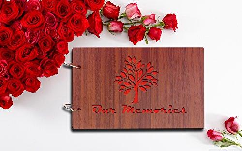 Sehaz Artworks Our Memories Pasted Wood Photo Album (22 cm...