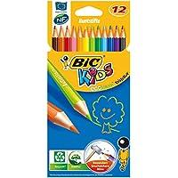 Bic Kids - 9078322 - Evolution - Crayons de Couleur - Etui de 12 - Modèle Aléatoire