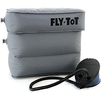 Coussin de vol gonflable Fly-Tot (gris, avec pompe à pédale)