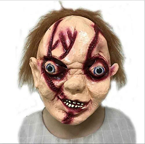 Jke pan Halloween Horror Party Maskerade Cosplay Mittelalterliche Requisiten Ekelhaftes Gesicht Blutig Abgestorbenes Auto Biochemische Krise Zombie Corpse Mummy Super Ghost