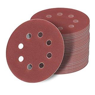 StickandShine 125 mm Klett Schleifscheiben SET 120 Stück je 20x 40/60/80/120/180/240 Schleifpapier 8 Loch