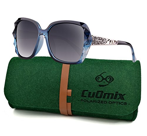 fec8bc2d83 Women s Polarized Sunglasses CuOmix Shades Classic Oversized Driving Sunglasses  100% UV Protection Eyewear CuO27