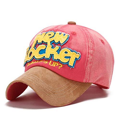 Baseballmütze Rocker Baseball Caps Männer Frauen Wildleder Einstellbarer Kontrast Kunstleder Wein Junger Hut