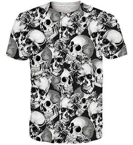 Print T Shirt Herren Damen Sommer Lustige Beiläufige Kurzarm Aufdruck T-Shirts Tee Top XXL ()