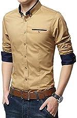 Pearl Ocean Men's Satin Shirt (Sandy Brown)