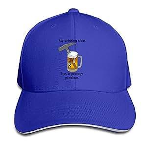 xcarmen runy Custom My Drinking Class Has A Geology Problem Adjustable sanwich Hunting Peak Hat & Cap Roya lblue