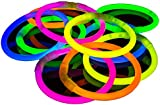 The Glowhouse Premium Glow Stick Bracelets (Mixed) 100 Pack