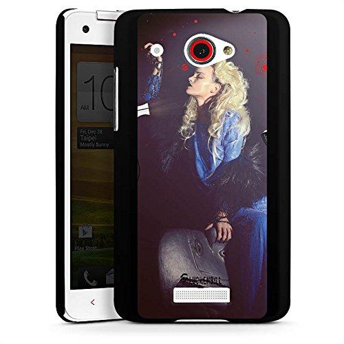 HTC Butterfly Hülle Schutz Hard Case Cover Frau Föhn Kamm