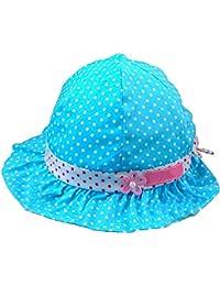 SODIAL(R) Neue suesse nette Baby-Kinder so Tupfen Sommer-Huete Caps blau