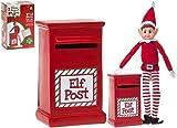 14cm Elf Post Box - Enthält 1 offizielle Elf Report - Weihnachtsdekoration - Elfen, die schlecht sind