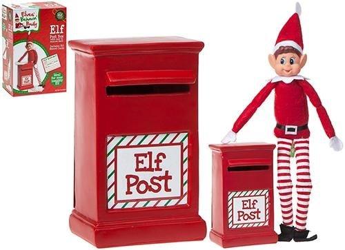 14cm Elf Post Box - Enthält 1 offizielle Elf Report - Weihnachtsdekoration - Elfen, die schlecht sind -